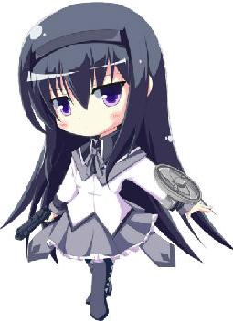 【s抠图素材】魔法少女小圆系列萌妹子png素材~可用于头像或签名【17