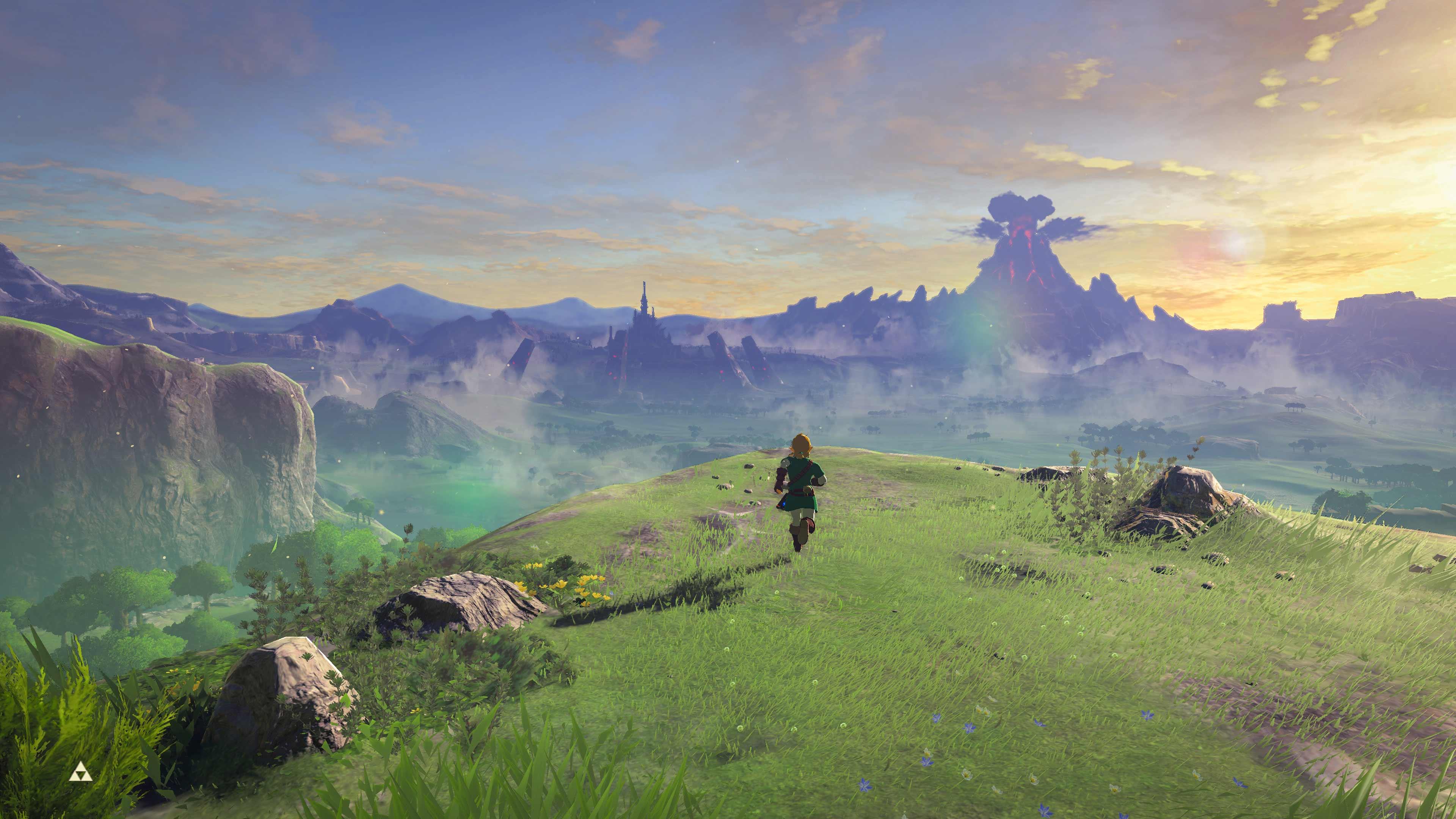 荒野之息火山的风景画