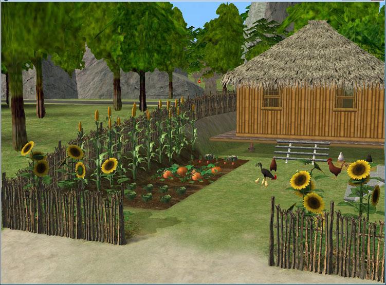 这是小渔村的第一户人家~是我最先做的~渔民的小茅屋.